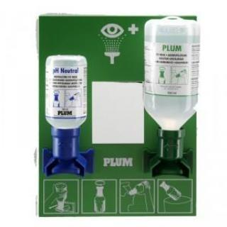 Plum Oogspoelfles 200ml PH neutraal + 500ml Sodium Chloride